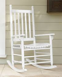 outdoor rocking chair handcrafted white wooden porch rocker orvis