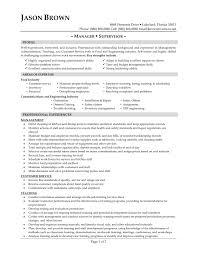 Financial Management Specialist Resume Food Service Resume Template Zuffli