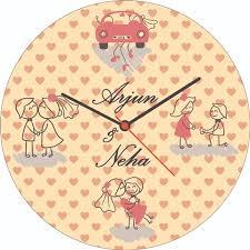 Personalized Wedding Clocks Personalized Wedding Wall Clocks