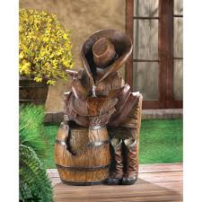 wholesale wild west water fountain cowboy theme garden fountain