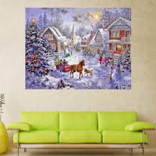 painting for home decoration winter christmas snow carriage 5d diamond embroidery kit diy