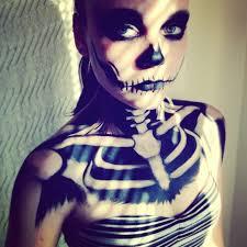 skeleton face and chest makeup mugeek vidalondon