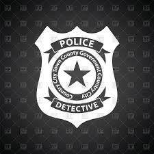 police badge icon on black background vector clipart image 152241