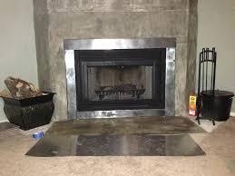 sheet metal fireplace surround tile frame contemporary mantels