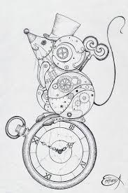 drawn steampunk steampunk art pencil and in color drawn