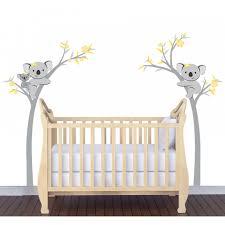 koala or panda bear wall decals with bamboo wall decorations etc yellow and gray koala tree decals