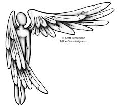 angel wing cross tattoo design real photo pictures images and