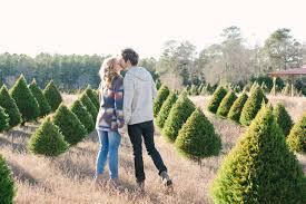 christmas tree farm engagement haleigh brandon coastal bride