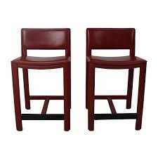 Leather Bar Chair 67 Off Room And Board Room U0026 Board Sava Leather Bar Stool Pair