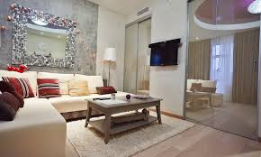 Wine Color Bedroom Studio Apartment Furnished With Eclectic Items And Integrated By