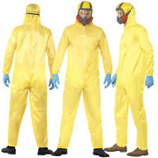 breaking bad costume mens breaking bad costume walter white hazmat yellow chemical suit