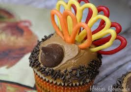turkey cupcakes for thanksgiving hoosier