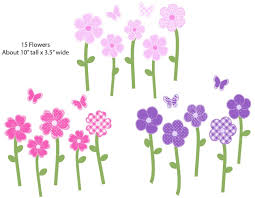 Wall Decals For Baby Nursery Nursery Decals And More Stickers Purple And Pink Flower Wall
