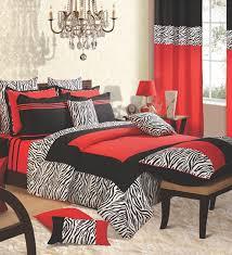 Zebra Bedroom Set Stunning Red And Black Zebra Bedroom 50 For Furniture Home Design