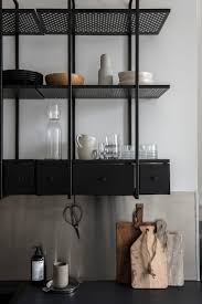 kitchen trendy metal kitchen wall shelves open shelving metal