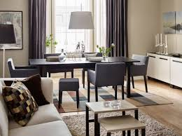 ikea black brown dining table ikea dining room cabinets brick wall decoration ideas fur rugs oval