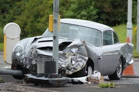 aston martin db5 four year old hurt as classic james bond style aston martin db5 is