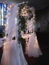 wedding arches decorated with tulle blue and white floral arch entryway floral arch arch and reception