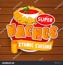 cuisine concept nachos ethnic cuisine logo food label เวกเตอร สต อก 633222359