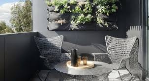 apartment masculine balcony with grey chairs also round grey