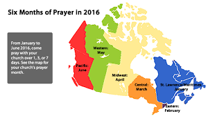 regions of canada map prayer in motion