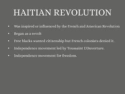 haitian mexican and south america revolutions by