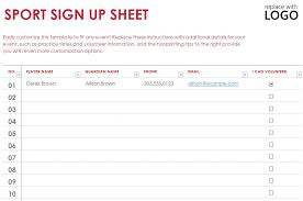 Sign Up Sheet Template For Word Sle Sign Up Sheet Template Sle Sign Out Sheet Template 8