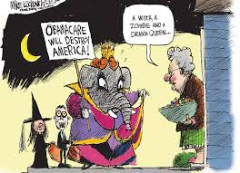 Republican Halloween Meme - photos mike luckovich s cartoons on obamacare