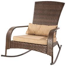patio flare traditional premium wicker muskoka rocker chair