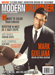guiliana s november 2014 issue of modern drummer featuring mark guiliana