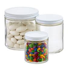 Kitchen Glass Canisters With Lids by Commercial Straight Sided Glass Jars The Container Store