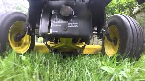 john deere 318 mowing youtube