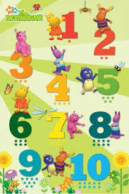 backyardigans counting poster sold abposters