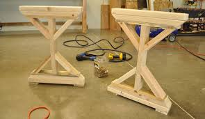 Diy Rustic Desk Learn How To Build A Desk With X Supports And I Beams For The Legs