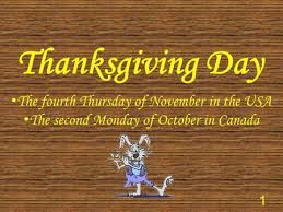 the thanksgiving day ppt