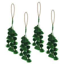 jemma tassel ornament set of 4