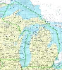 State Map United States by Michigan Counties Road Map Usa