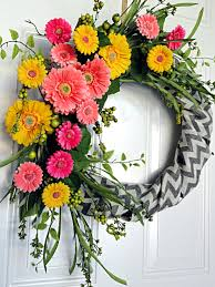 Spring Wreath Ideas Wreaths Awesome Flower Wreaths For Front Door Spring Wreaths For
