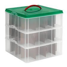 christmas ornament storage box snapware christmas ornament storage box