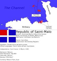 Saint Malo France Map by Republic Of Saint Malo Eng By Spiritswriter123 On Deviantart