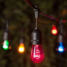 Commercial Light Strings by Patio Lights Commercial Multicolor Party Lights 24 S14 E26