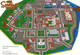 springfield map the simpsons homer springfield collectible map for xbox 360