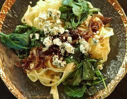 pasta with kale gorgonzola and caramelized onion meatless monday