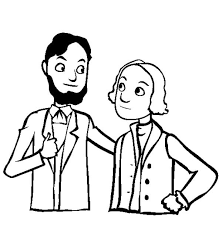 lincoln coloring pages caricature of lincoln and washington for presidents day coloring