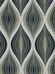 Upholstery Drapery Fabric Teal Abstract Fabric Modern Ogee Upholstery Yardage Linen