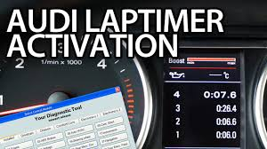 how to activate audi laptimer oil temp boost gauge vcds