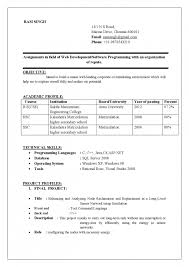 Resume For Computer Science Cover Letter Resume Format For Diploma Freshers Resume Format For