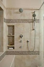 shower ideas for bathroom large charcoal black pebble tile border shower accent https