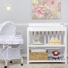 dream on me changing table white dream on me zoey 3 in 1 convertible changing table with pad white