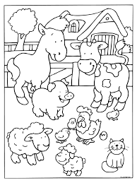 Image Gallery Farm Animals Coloring Pages At Coloring Book Online Farm Color Page